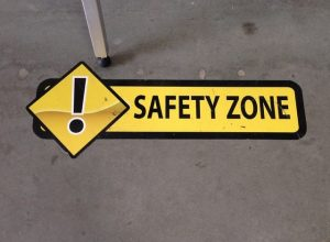 Safety Zone Floor Vinyl Graphics