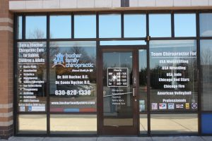 Greensboro Custom Office Signs Copy of Chiropractic Office Window Decals 300x200