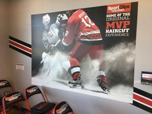 Browns Summit Sign Company indoor lobby wall mural waiting room vinyl 300x225 300x225