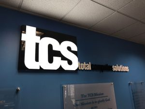 Greensboro Commercial & Business Signs TCS Lobby client 300x225